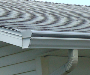 pewter gutter protection
